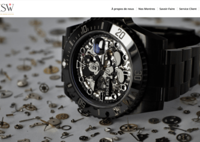 Home page site web Kustom Swiss Watch