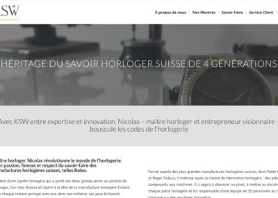 Héritage du savoir-faire horloger KSW